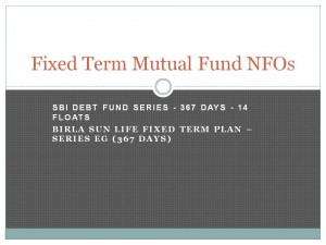 Fixed Term Mutual Fund NFOs
