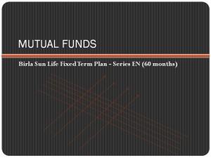 Birla Sun Life Fixed Term Plan – Series EN (60 months) NFO