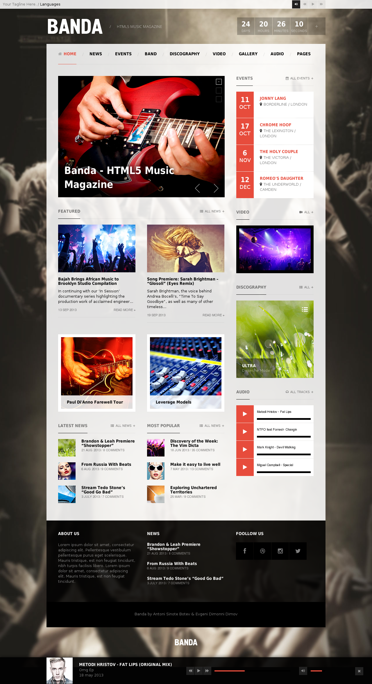 Awesome Java Enabled HTML Website Templates