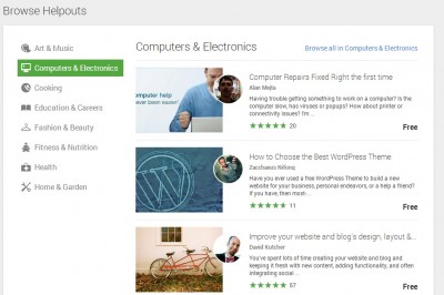 Google Helpouts For Experts Help