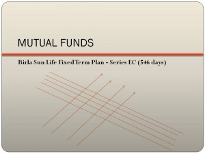 Birla Sun Life Fixed Term Plan – Series EC (546 days) NFO