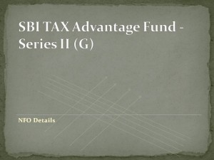 SBI TAX Advantage Fund – Series II (G) NFO