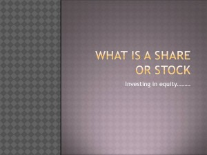 What is a share or stock