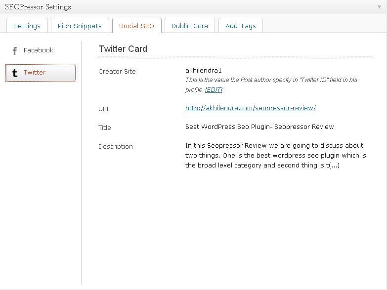WP Twitter card