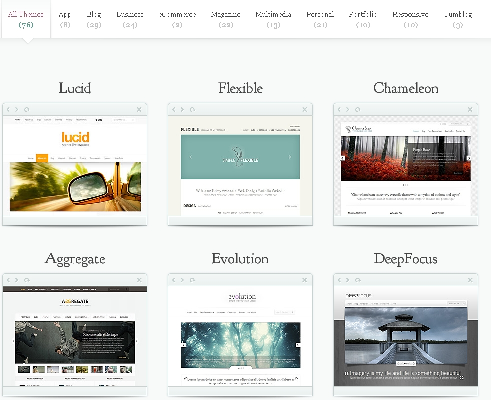 elegant themes gallary