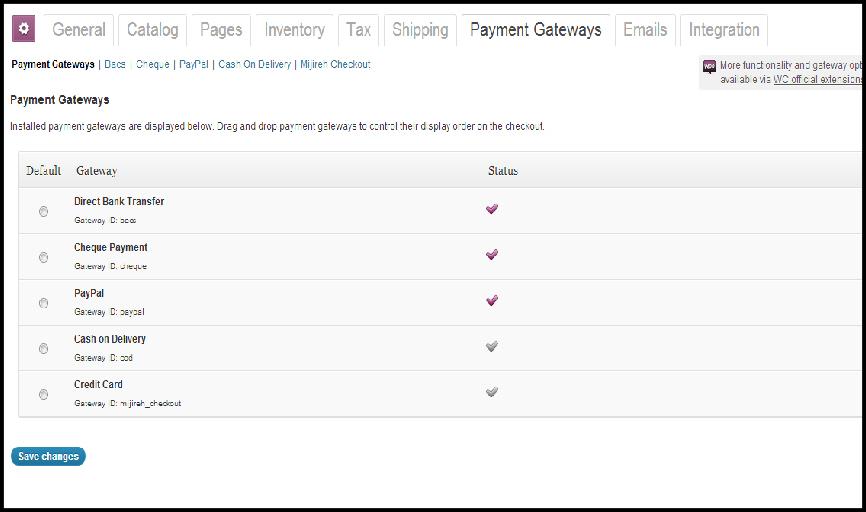 woocommerce plugin wordpress ecommerce payment gateways