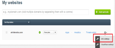 cloudflare dns settings