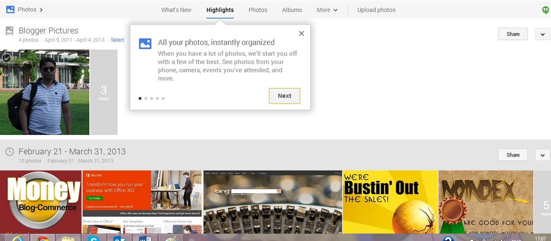 Google plus photo revamped