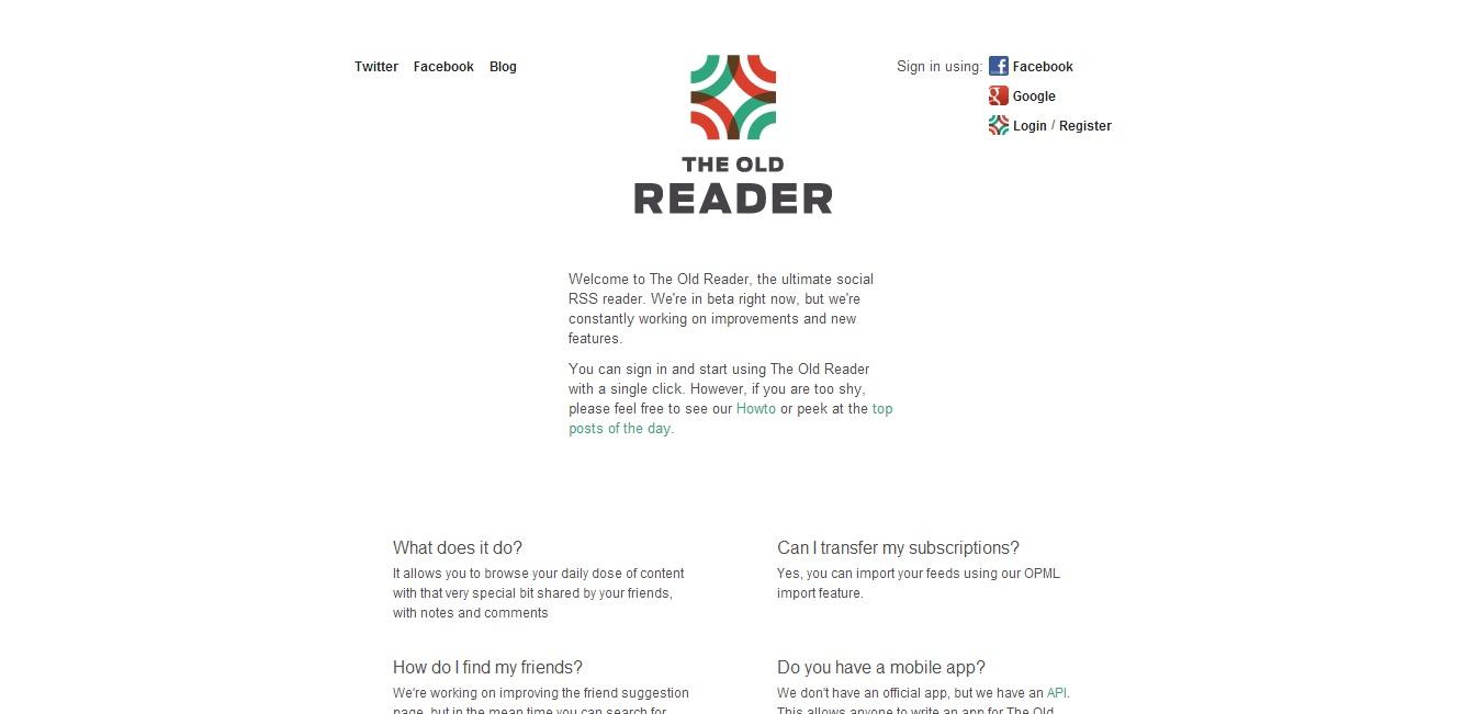 the old reader google reader alternative