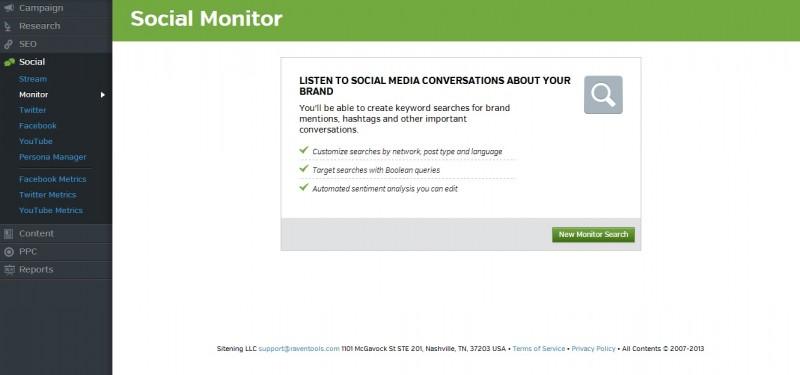 social monitor raven