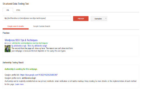 Googe+ Authorship webmaster tool