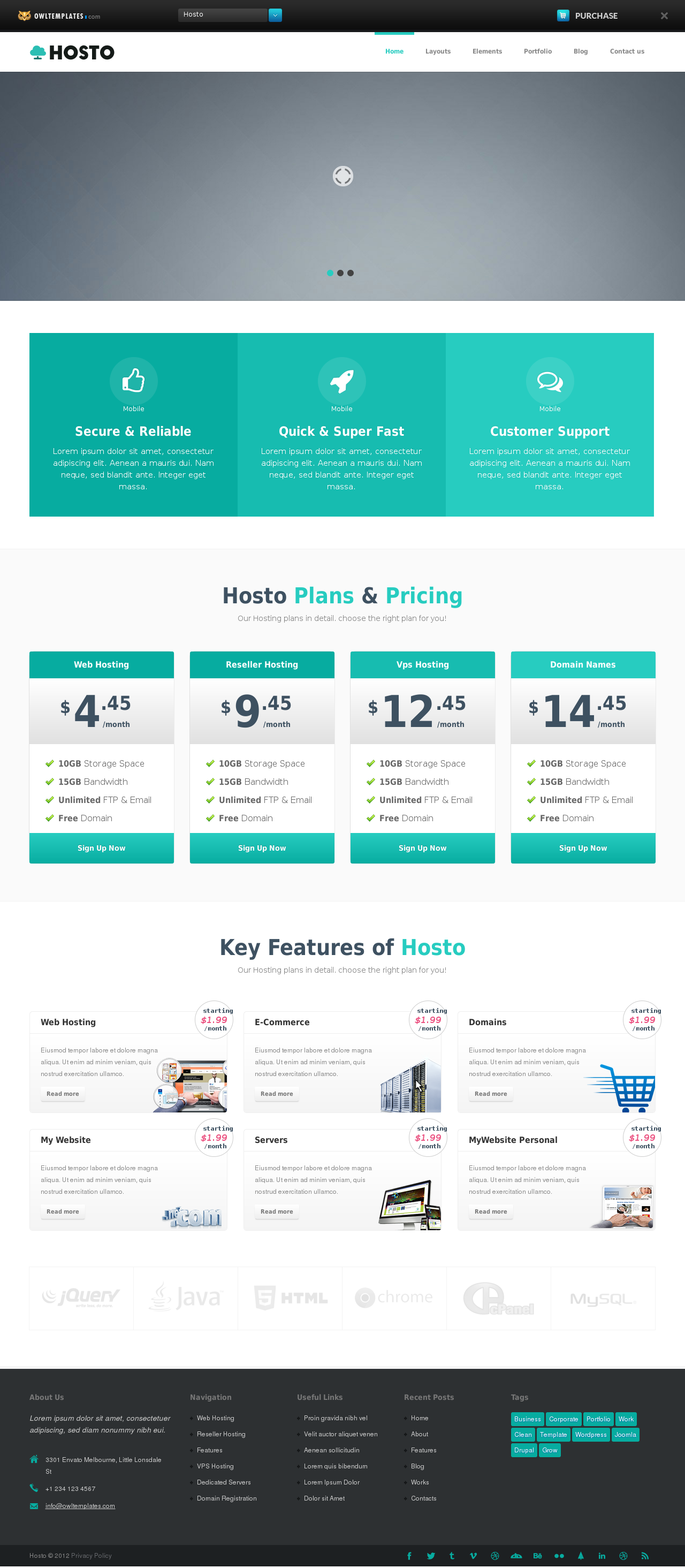 Hosto – Bootstrap Responsive HTML Template