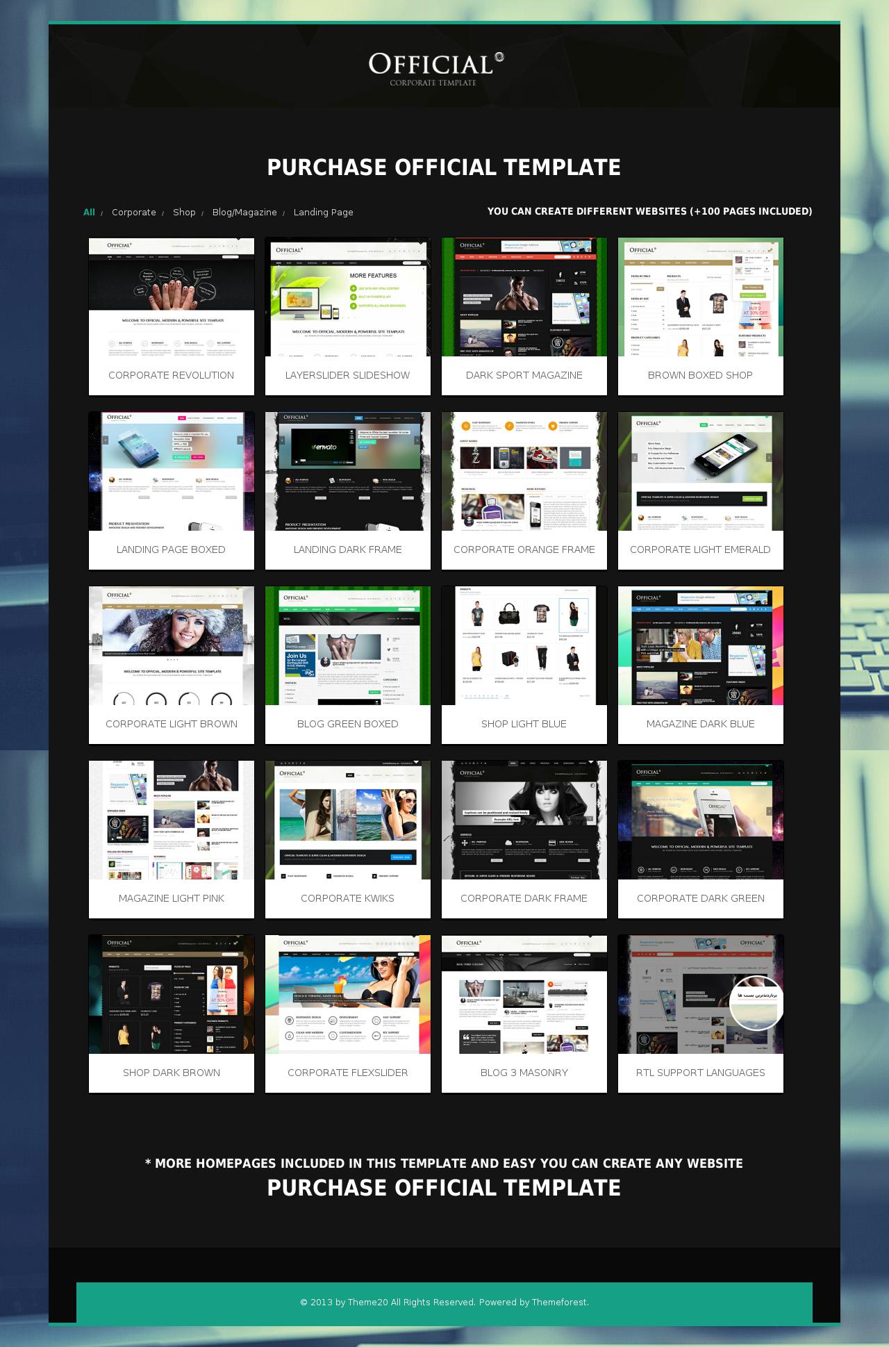 Official - Multipurpose HTML5 Website Template