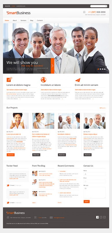 Small business wordpress blog themes