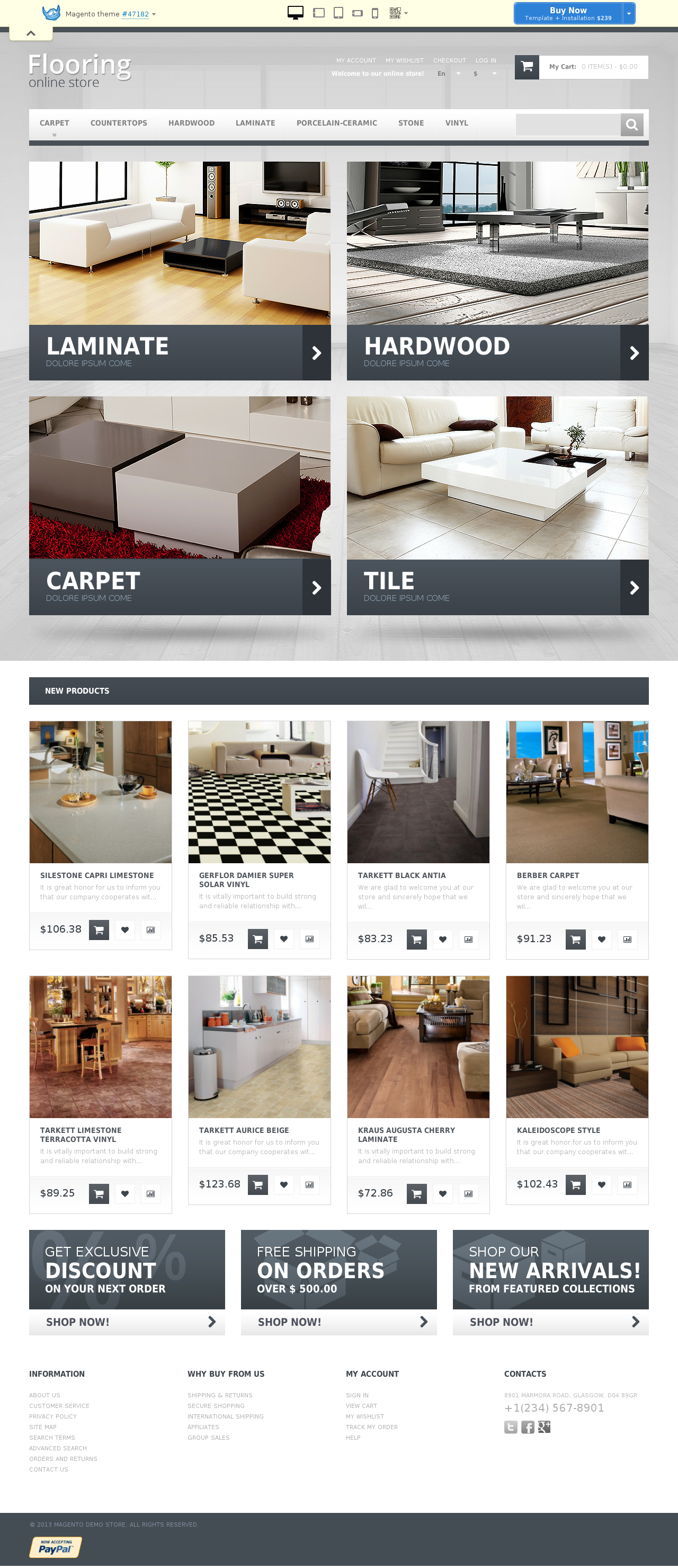 Durable Flooring Magento Theme #47182