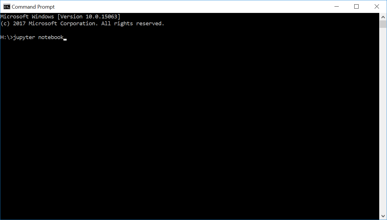 command prompt jupyter notebook