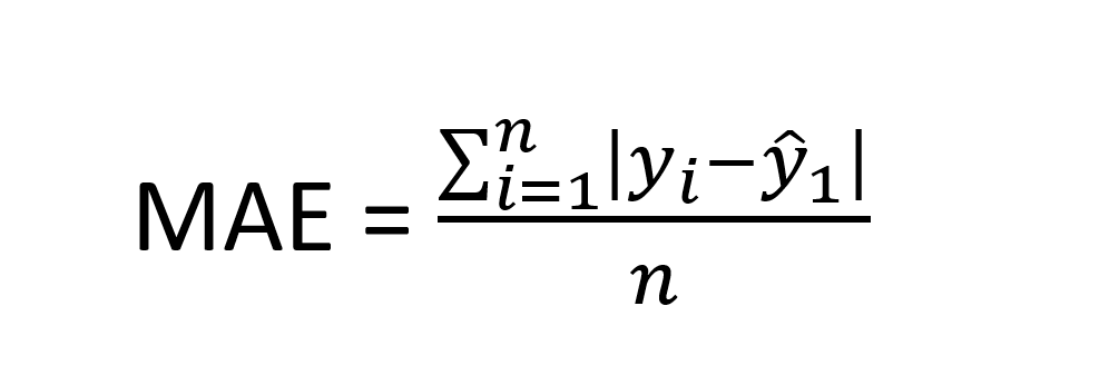 mean absolute error equation